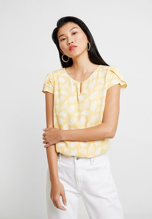 BLOUSE WITH PETAL SLEEVE - Pusero - yellow