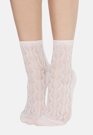 SOCKE MIT DURCHBRUCHMUSTER AUS BAUMWOLLE - Socks - rosa - 986 - pastel pink
