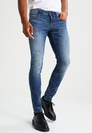3301 DESCONSTRUCTED SUPER SLIM - Jeans Skinny Fit - medium indigo aged