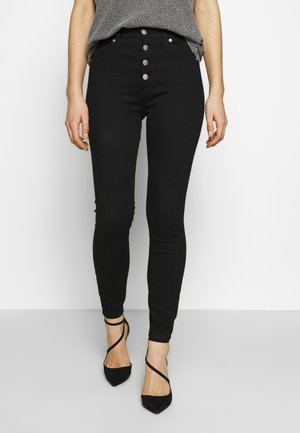 HIGH RISE SUPER ANKLE - Jeans Skinny Fit - clean black shank