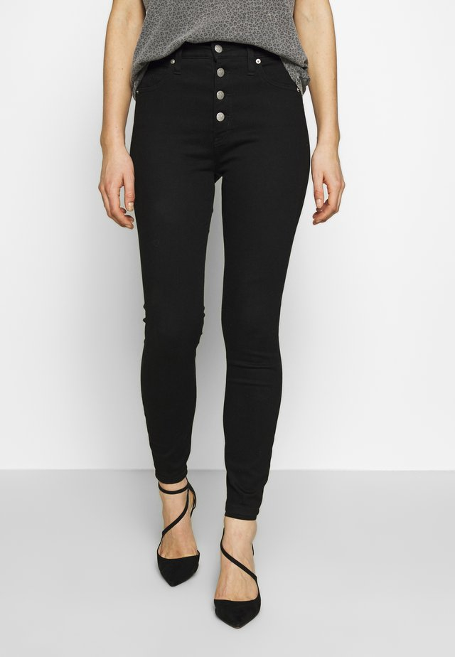 HIGH RISE SUPER ANKLE - Skinny džíny - clean black shank