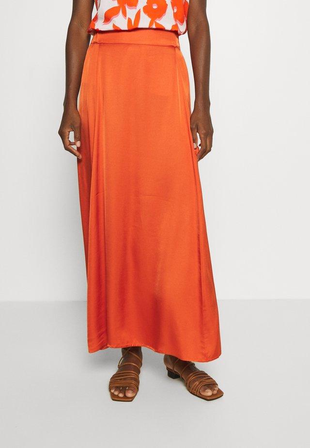 DAISI - A-line skirt - orange sunset