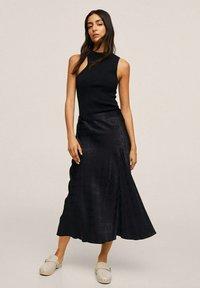 Mango - MIDI - A-line skirt - noir - 1