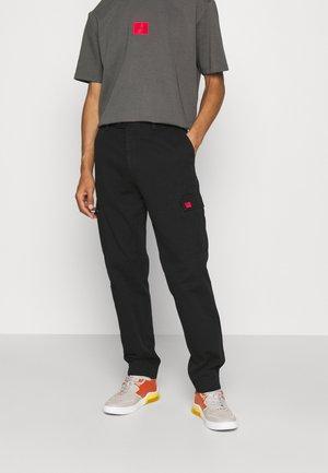 GLIAN - Cargo trousers - black