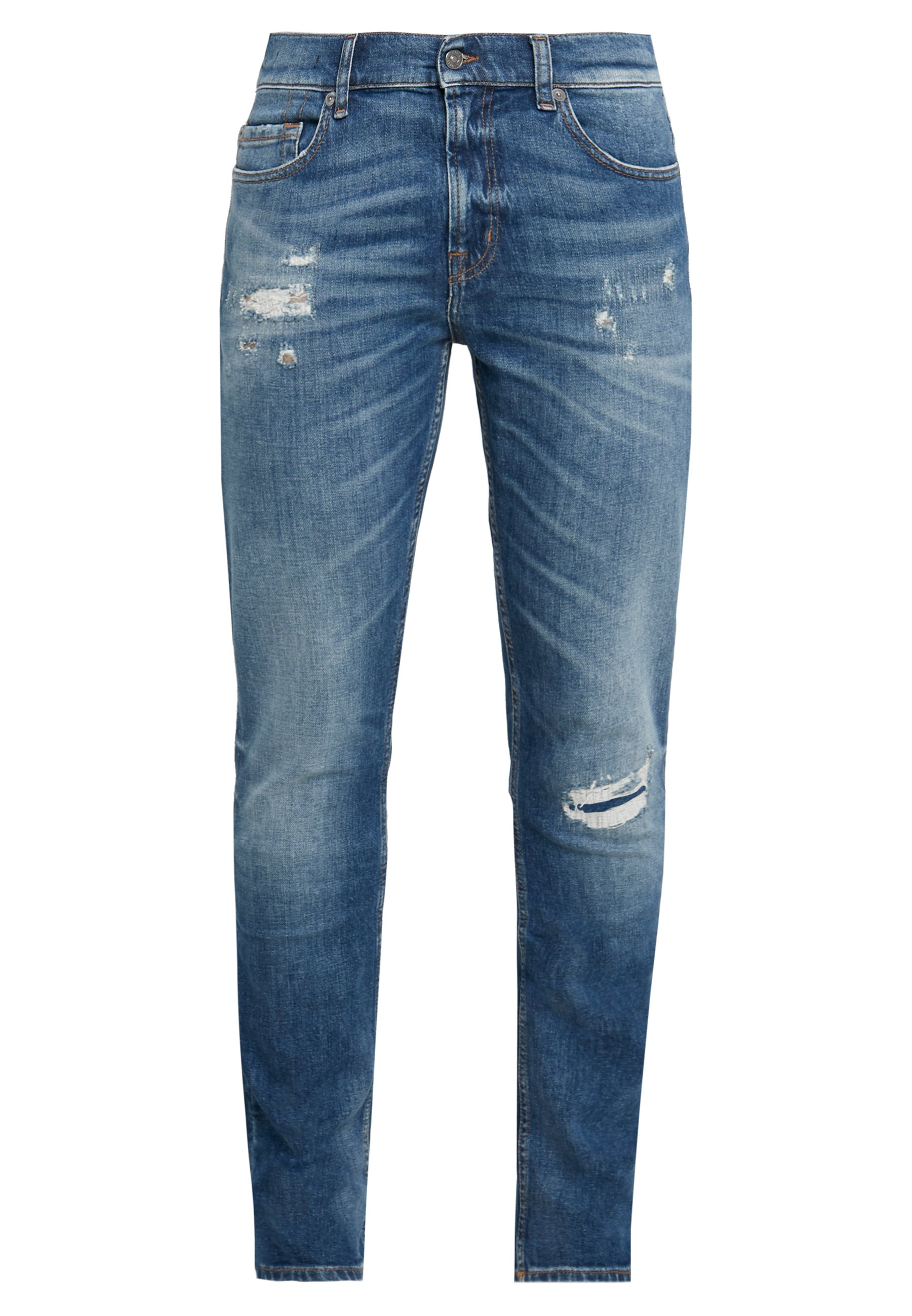 7 for all mankind RONNIE DESTROYED - Jean slim - mid blue