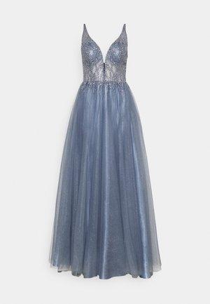 ABENDKLEID MIT PERLENBESTICKTEM OBERTEIL - Společenské šaty - blue dust
