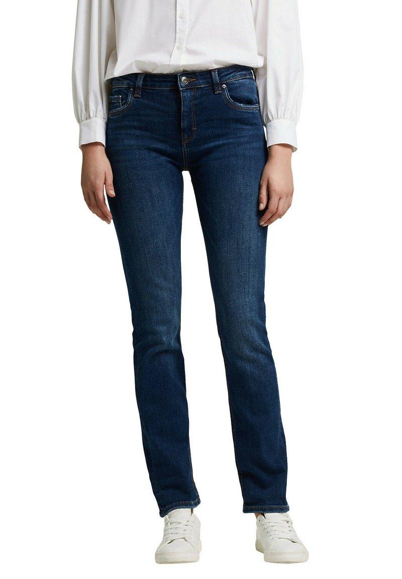 Esprit - Straight leg jeans - dark blue