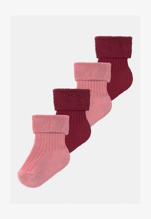 4 PACK - Socks - rose/dark rose