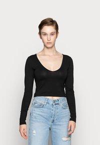Even&Odd - 2 PACK - Maglietta a manica lunga - camel/black - 3