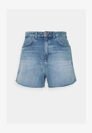 Denim shorts - vintage mid blue