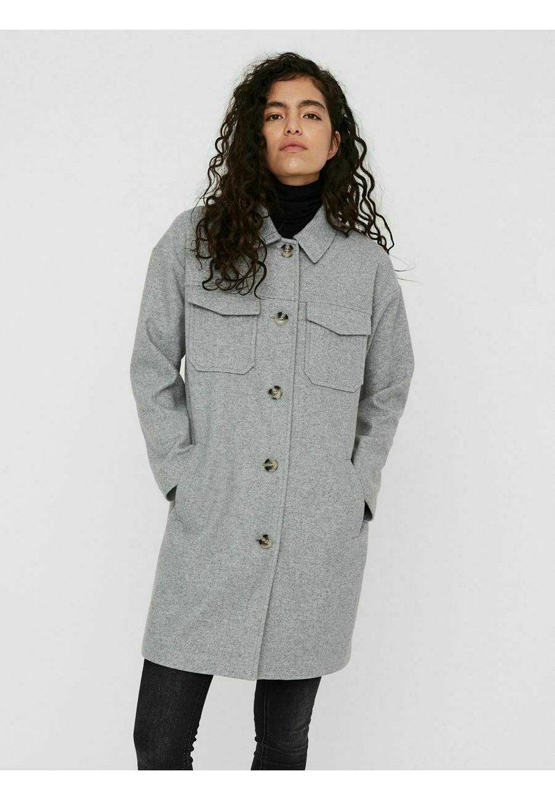 Vero Moda - Classic coat - light grey melange