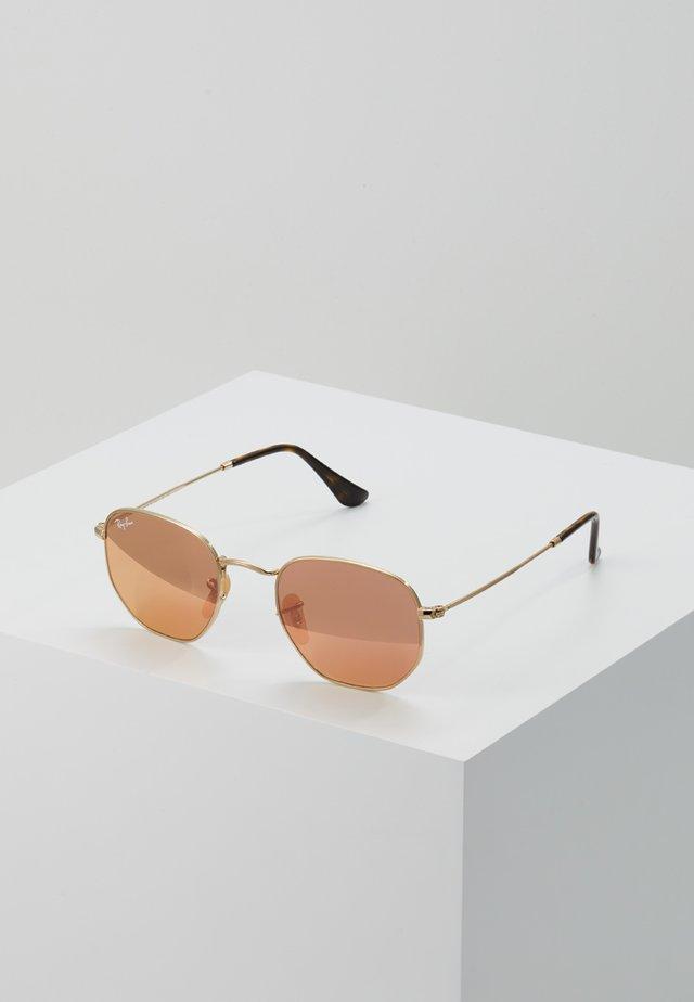 Zonnebril - gold copper flash