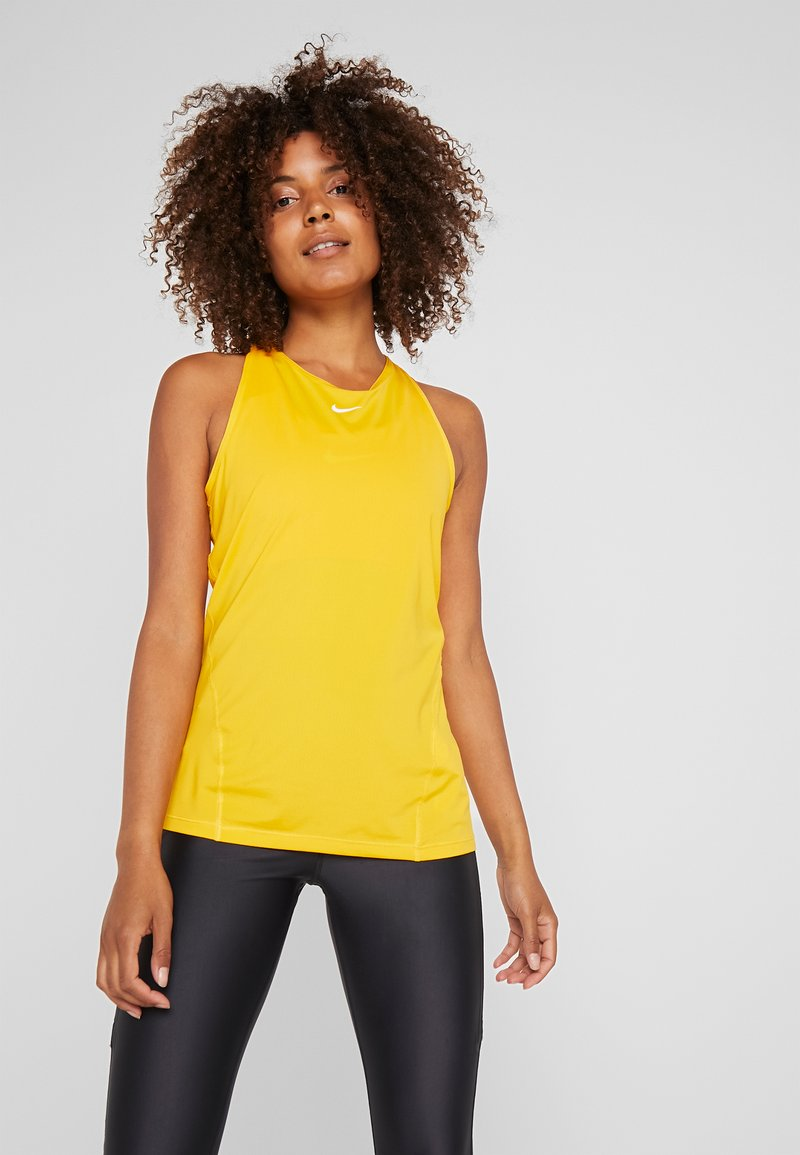 Nike Performance - TANK ALL OVER  - Funkční triko - university gold/white