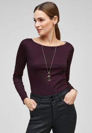 Long sleeved top - dark plum