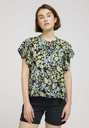 PRINTED RUFFLE BLOUSE - Blouse - multi-coloured