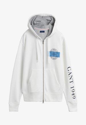 Zip-up hoodie - eggshell