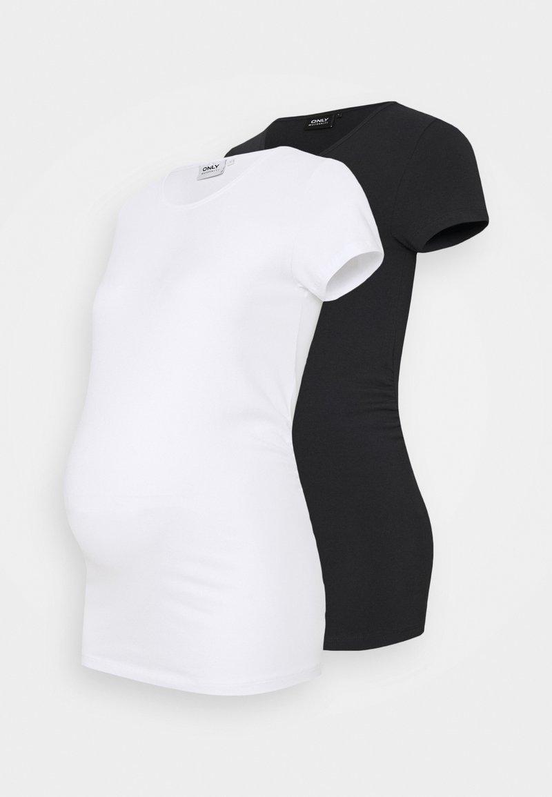 ONLY - OLMLOVELY LIFE ONECK 2 PACK - Basic T-shirt - night sky/white