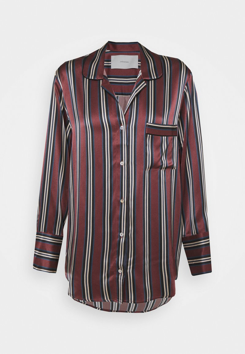 ASCENO - THE PARIS - Pyjama top - burgundy