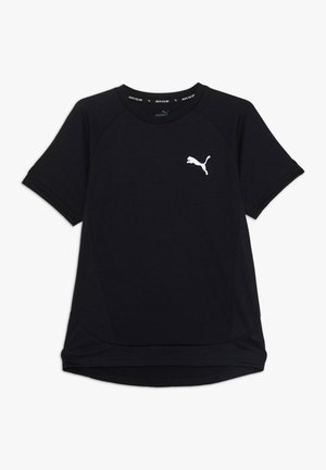 EVOSTRIPE TEE - Camiseta estampada - black