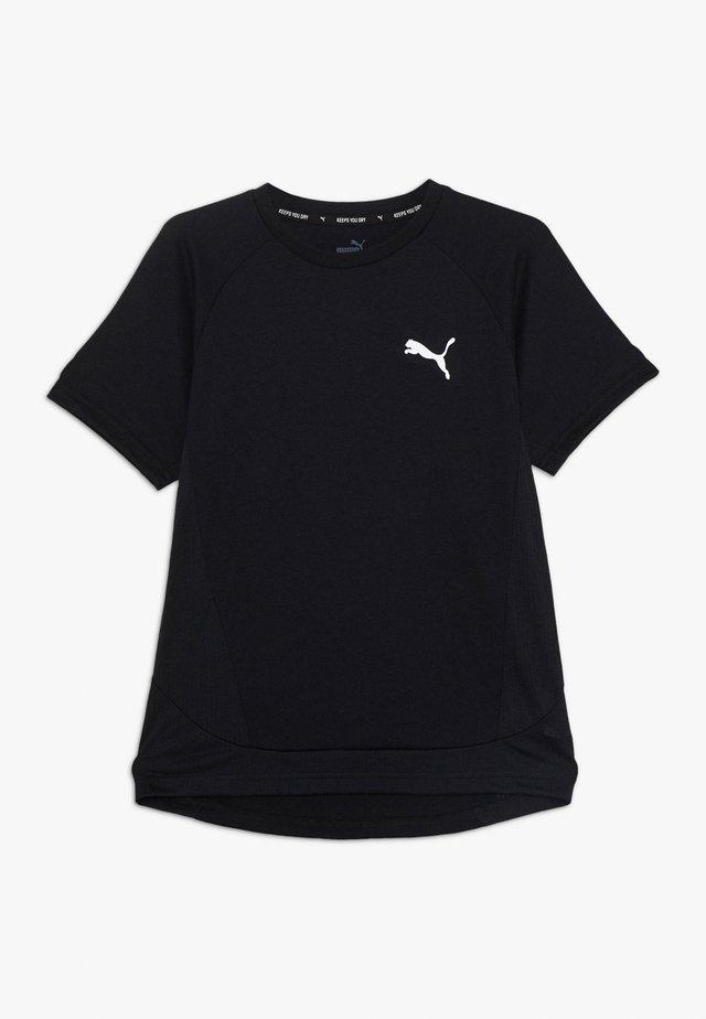 EVOSTRIPE TEE - Printtipaita - black