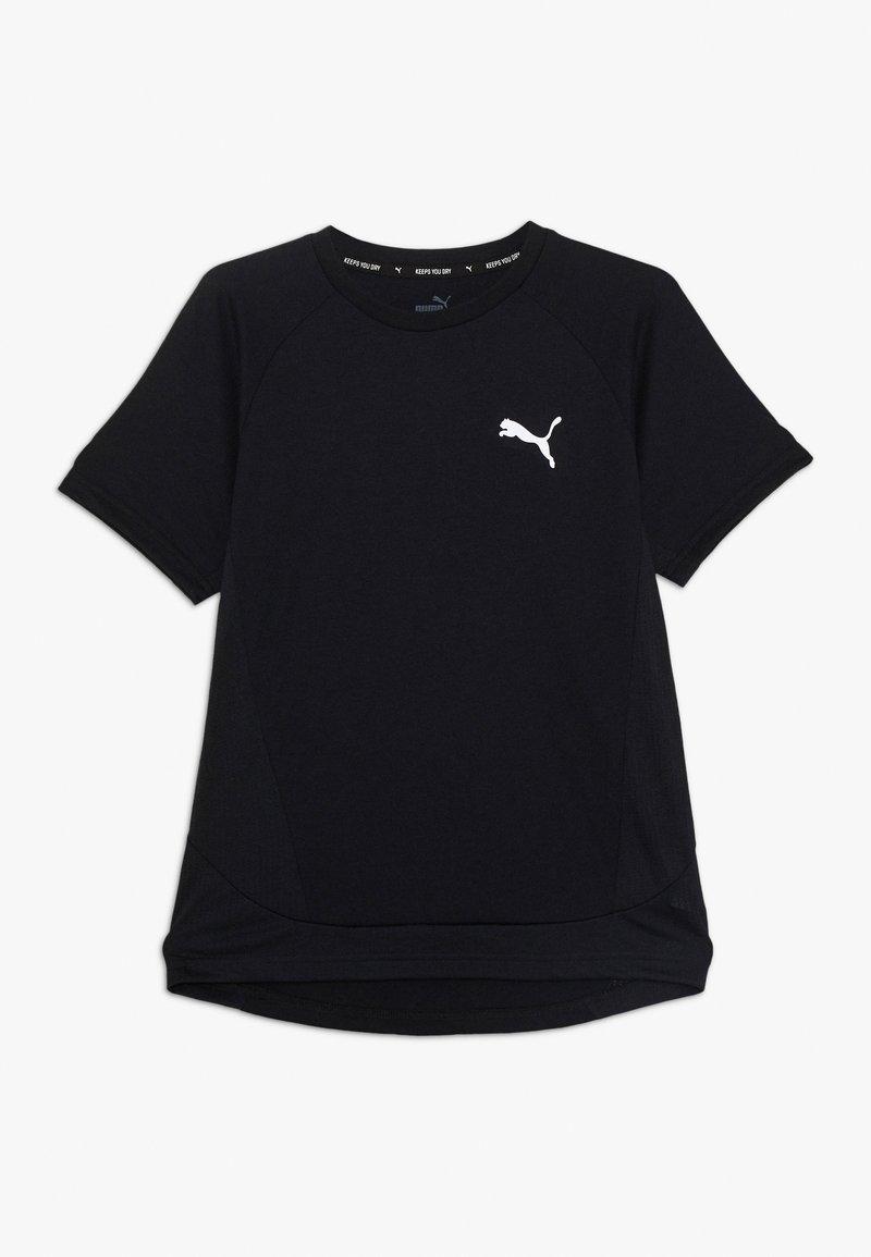 Puma - EVOSTRIPE TEE - Print T-shirt - black