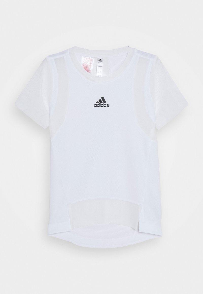 adidas Performance - HEAT.RDY TRAINING SPORTS SHORT SLEEVE TEE - Print T-shirt - white