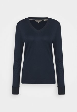 V-NECK - Long sleeved top - sky captain blue