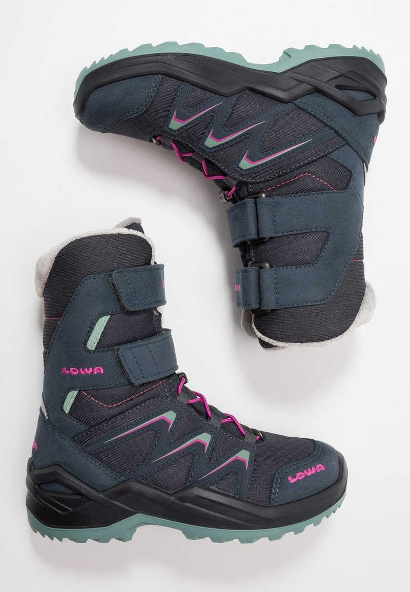 Lowa - MADDOX WARM GTX - Winter boots - steel blue/jade
