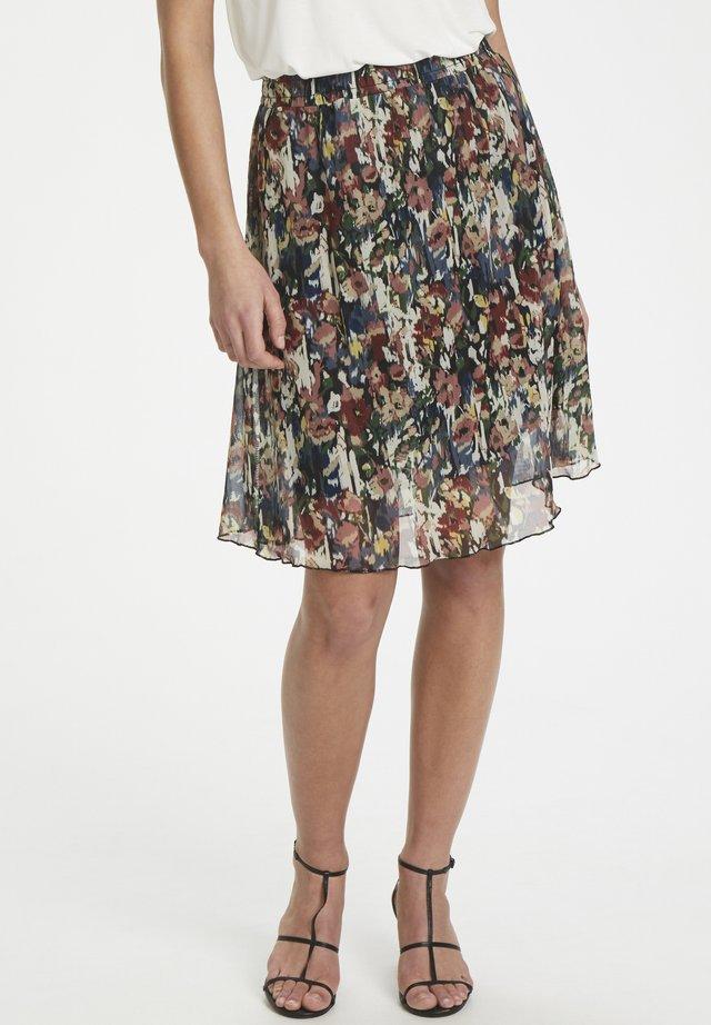 A-line skirt - multi color floral