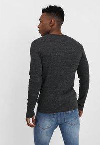 YOURTURN - Long sleeved top - mottled black - 2
