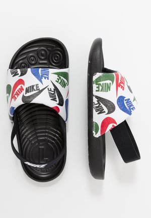 KAWA SLIDE SE - Sandales de bain - black/white