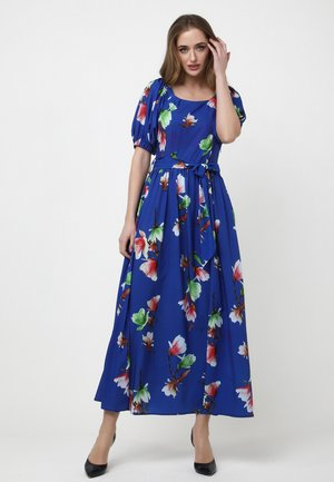 KAMEYA - Maxi dress - indigo/rot