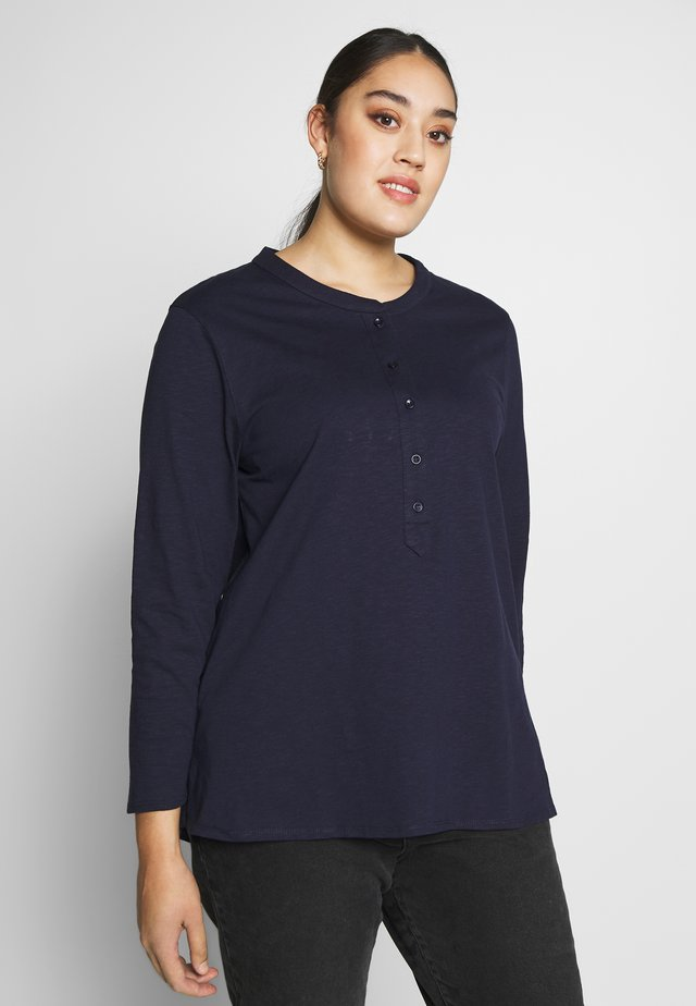 NAVY SLUB TEE - Topper langermet - dark blue