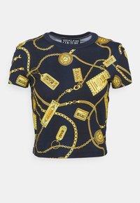 Versace Jeans Couture - Triko spotiskem - navy - 4
