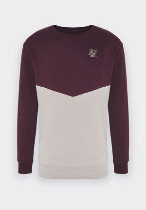 CUT AND SEW CREW - Sweatshirt - wine/cream