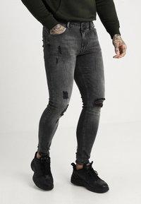Pier One - Skinny džíny - black denim - 0
