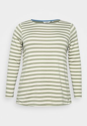 Long sleeved top - green/sand