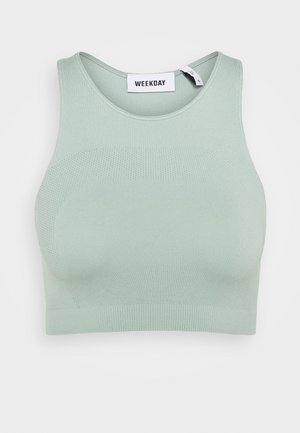 CILLI SEAMLESS  - Top - dusty turquoise