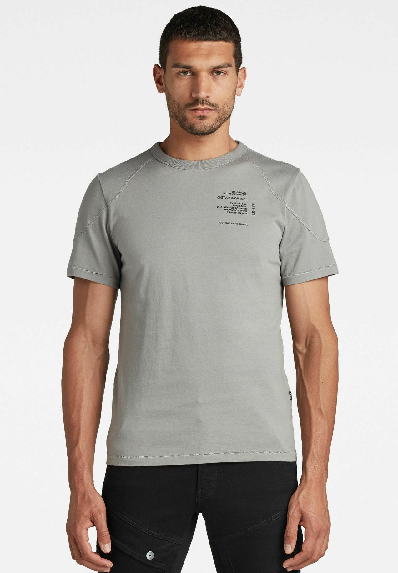 Homme SHOULDER PANEL R - T-shirt imprimé
