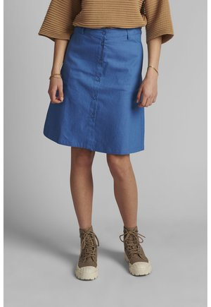 A-line skirt - medium blue denim