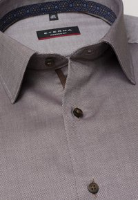 Eterna - FITTED WAIST - Formal shirt - beige brown - 3
