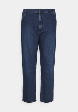 PLUS MID RISE - Jeans Tapered Fit - mid blue wash