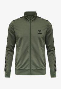 Hummel - NATHAN  - Zip-up sweatshirt - beetle - 0