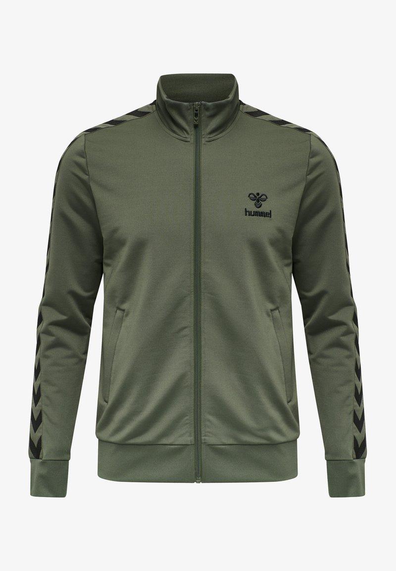 Hummel - NATHAN  - Zip-up sweatshirt - beetle