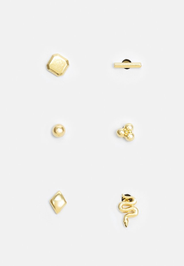 SNAKE STUD EAR PARTY 6 PACK - Boucles d'oreilles - pale gold-coloured