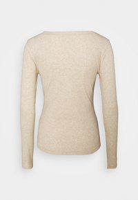 Madewell - SEMI COLON TOP CLEAN - Long sleeved top - heather camel - 1