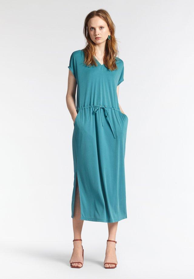 Jersey dress - petrol