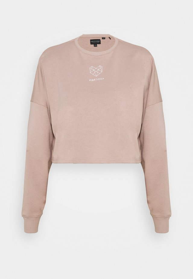 DUNE CROP CREW - Sweatshirt - bark