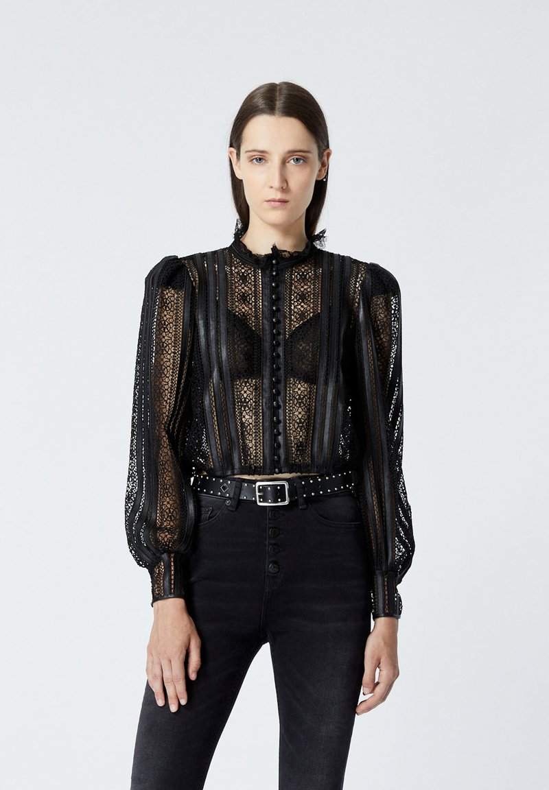The Kooples - Long sleeved top - black