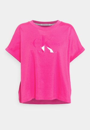 TONAL MONOGRAM TEE - Print T-shirt - party pink